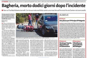 GdS 14_4_16 Morte dopo incidente
