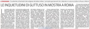 GDS 29 AGO gUTTUSO IN MOSTRA A rOMA