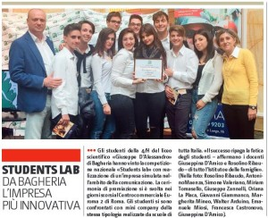 gds 09-12-2016 Students Lab vinta dal Liceo scientifico G.D'Alessandro