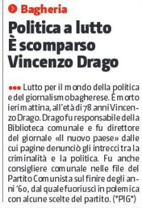 gds 04-02-2017 E' scomparso Vincenzo Drago