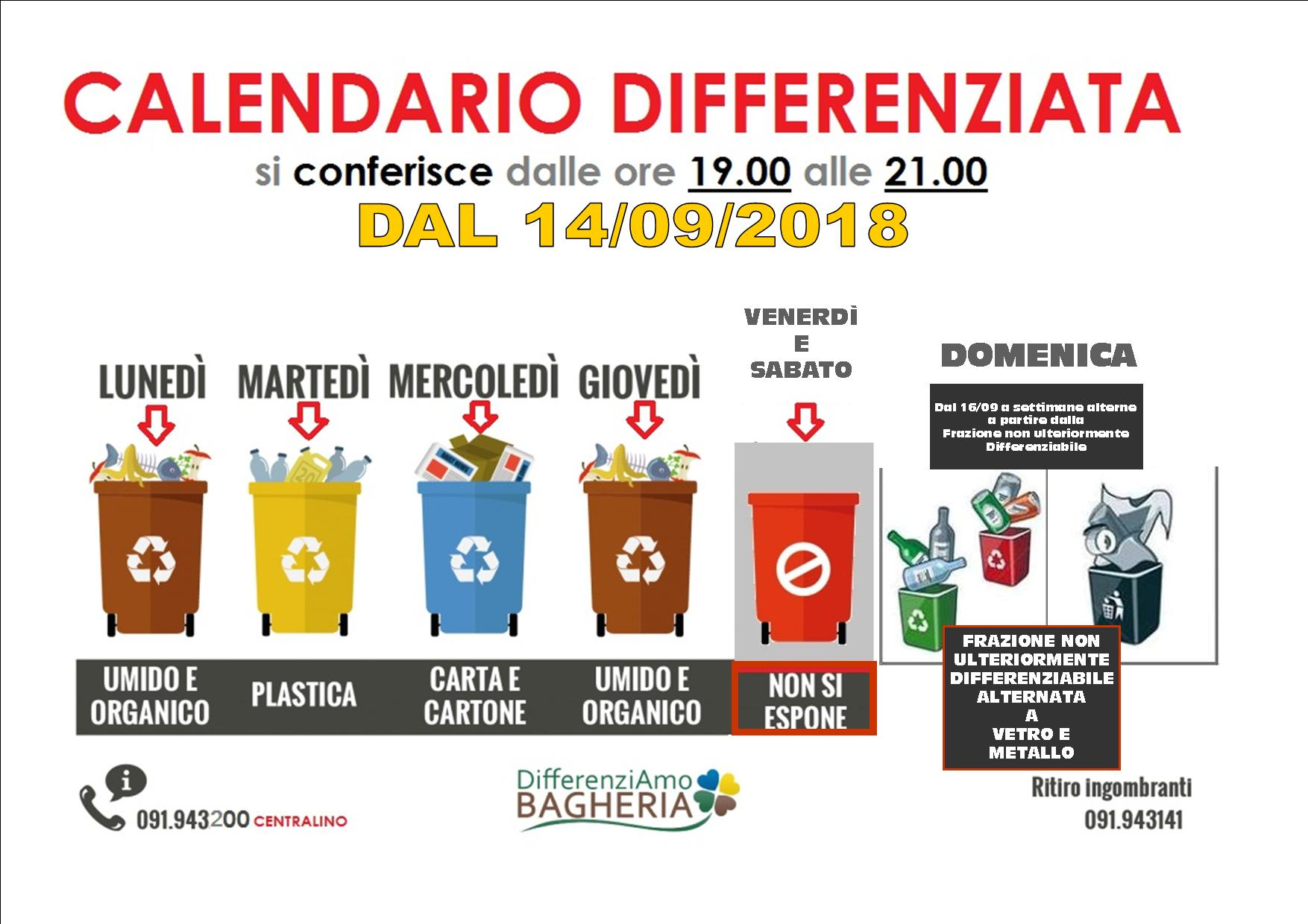 Calendario Differenziata.Raccolta Differenziata Cambia Il Calendario L