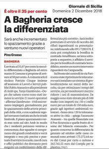 GDS 02-12-2018 Cresce la differenziata