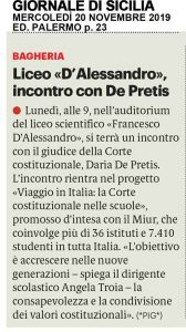 GDS 20-11-2019 Liceo D'Alessandro